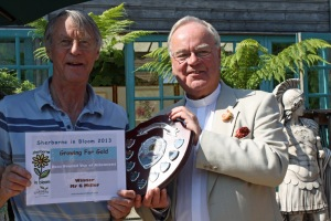 Winner The Town Council Shield for Best use of Allotments Gerald Miller