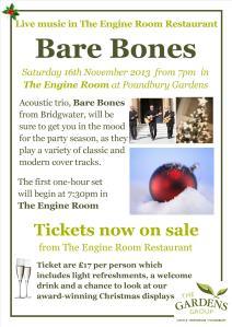 Bare Bones poster 16 November