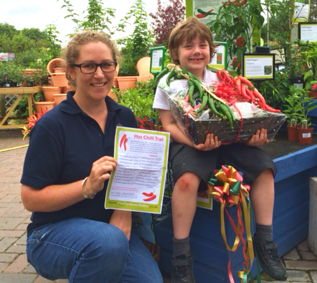 5 year old Alfie Greenslade winner of the Brimsmore Chilli Trail