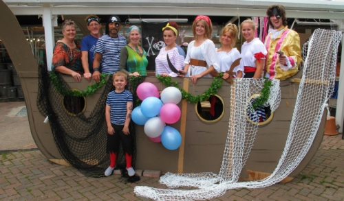 Last year's Summer Fancy Dress party at Castle Gardens.