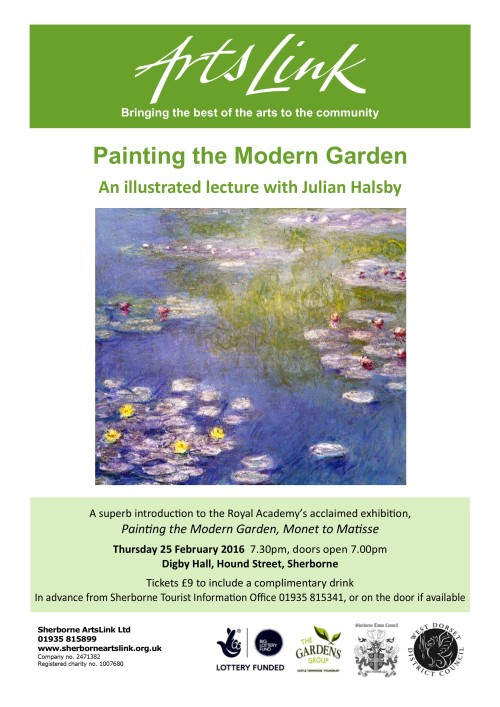2016 spr lecture art garden poster